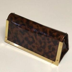 Brown/Gold Tortoise Hardware Sunglass Case